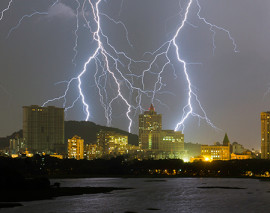 Global Warming and Lightning Strikes